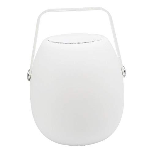 Lumisky Lanterne Multicolore de Jardin sans Fil sur Batterie avec Enceinte Bluetooth So Play à LED RGB 30cm, Polyéthylène rotomoulé, Blanc et Transparent, 21x21xH30
