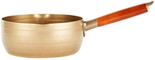 Jooyouo-TH Aluminiumlegierung Antihaft-Nahrungsergänzungsmittel Instant-Nudeln Milchsuppe 颜色 (Farbe: Gold Größe: 22Cm) -20Cm_Gold