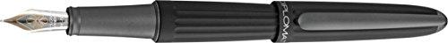 DIPLOMAT - Aero - Penna stilografica in oro 14 carati - Medio - Nero - Resistente ed elegante - 5 anni di garanzia