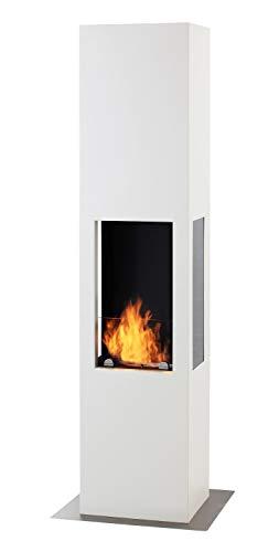 Muenkel ontwerp Prism Fire L [bio-ethanol haard 3-zijdig zicht]: wit