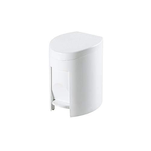 Certeo Kunststoffabfallbehälter mit Tretmechanismus | Volumen 6 l | Weiß | Kunststoffeimer Abfallsammler Müllsammler Müllbehälter Mülleimer