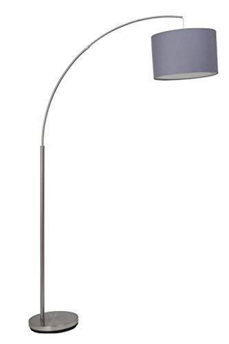 Brilliant AG 13258/22 Stehleuchte, Metall/Textil, 60W, E27, Stahl/Grau