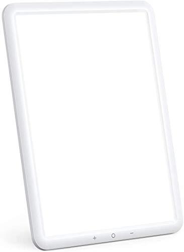 TaoTronics - Lampada a LED per luminoterapia, 10.000 Lux, senza UV, con luminosità regolabile, timer, controllo touch, rotazione del supporto di 90°