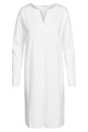 Damen Nachthemd langarm White 48