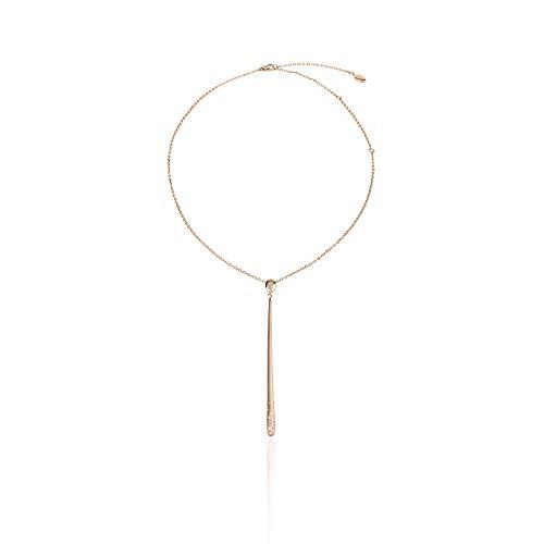 Breil Gioiello Collezione Illusion, Collana da Donna in Acciaio COLORATO Colore Rosa Gold Misura 66CM con con Pietre - TJ2703