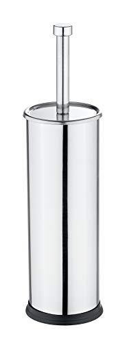 Wenko Exclusiv Escobillero WC, Acero Inoxidable, Plata Brill