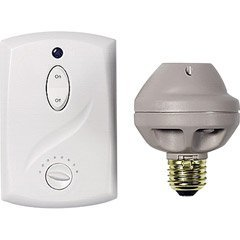 GE 51137 Switch Kit, 3 Piece Wall Ceiling Light with Socket Adaptor-Wall Mount