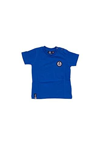 Sergio Tacchini - T-Shirt Baby in Cotone Primavera Estate per Neonato, Chiusura con Bottoncini e Stampa Logo, Disponibile in Diversi Colori (Blu Royal, 24 Mesi)