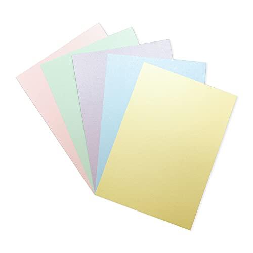 Crafter's Companion CARD-PAST-40 A4 Multicoloured Pastels – Perlmuttpapier 310 g/m² (40-Blatt-Packung) -Pastellpapier perfekt für Kunsthandwerk, Druck, Kartengrundlagen und Falten-Centura Pearl Papier