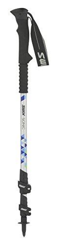 Swix Bâtons de Trekking Sonic Tourer Pole 3 pièces 6000 Transparente Pole, 64 Cm-135 cm, Noir