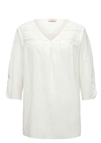 TRIANGLE Damen Voile-Bluse mit Embroidery White 52