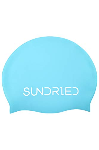 Sundried Silikon Schwimm Hat Pro Series Schulung Wettbewerb Badekappe Open Water, Pool, Triathlon-Blau