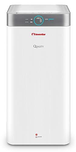 Inventor Luftreiniger QUALITY QLT-550, Leiser Luftreiniger, mit Sowohl HEPA-Filter als auch Aktivkohlefilter und Ionisator, für Flächen bis 85m², gegen Bakterien und Viren
