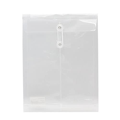 Bolsa de Documentos con Hebilla Transparente Bolsa de Almacenamiento de Documentos Vertical Carpeta de Archivo de Papel A4 Bolsa de Archivo 6PCS Transparente