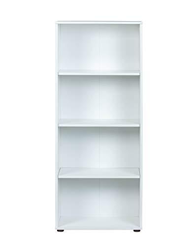 Inter Link Regal Bücherregal mit 4 Fächern Standregal Holzregal in Weiss