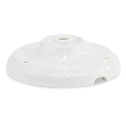 Lampen Baldachin Antik Porzellan/Keramik - Abdeckung für Hängelampen mit Tunnel - indoor und outdoor