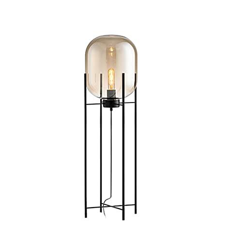 SHIJIE1701AA Luz de Pie para Salon Lámpara de Cristal soplado a Mano Vintage habitación Moderna Esenciales de iluminación de lámpara de pie Lámpara de pie Modernas (Color : A)