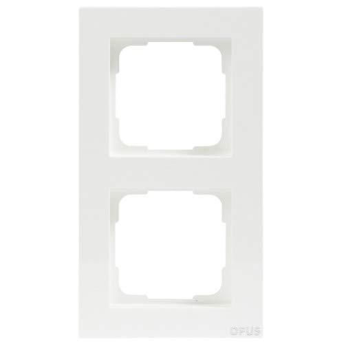 OPUS® 55 Kubus Abdeckrahmen Ausführung 2-fach, Farbe polarweiß