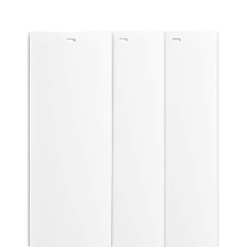 "DALIX 82.5"" White Vertical Replacement Blinds Slats Sliding Door Window (3 Pack)"