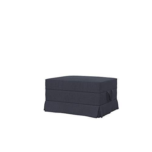 Soferia Funda de Repuesto para IKEA EKTORP reposapiés, Tela Elegance Denim, Azul