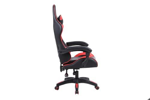 Spielestuhl, Ergonomie, Sitzstuhl, Verstellbar, Mit Hoher Taille Rotierender Pu Leder Renncomputer Schreibtisch Und Stuhl