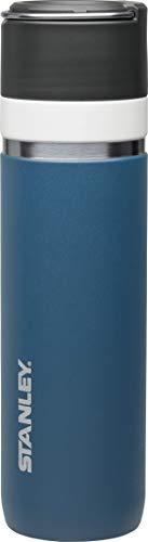 Stanley GO Ceramivac Thermosflasche mit Keramikbeschichtung, 0.7 L, tungsten-blau, beschichteter 18/8 Edelstahl, vakuumisoliert, geschmacksneutral, Thermoskanne Isolierkanne Thermoflasche