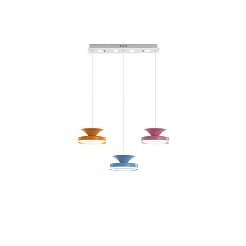 Múltiple colgante de la cabeza Luz Ajustable Droplight Color Chandelier Macarrón Europeo Lámpara de suspensión elegante y simple Serie Colgante Sala de estar, Comedor, Luces decorativas del dormitorio