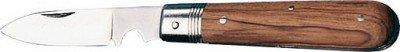 jäger DIREKT 860.158 Taschen-Kabelmesser mit Holzgriff, Blau, 1