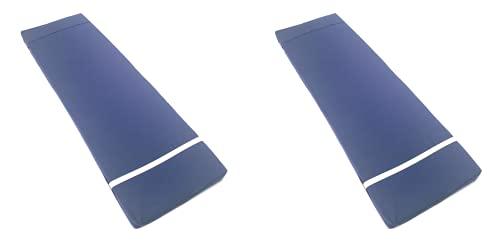 TIENDA EURASIA® Pack 2 Cojines para Tumbona Exterior de Jardin - Colchoneta 180 x 55 x 8 cm - Funda de Tela y Relleno de Fibra (Azul Marino)