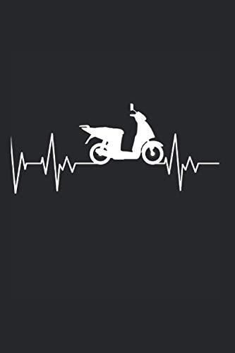 Roller Scooter Herzschlag Rollerfahrer Motorrad Geschenk: 6x9 Notizbuch