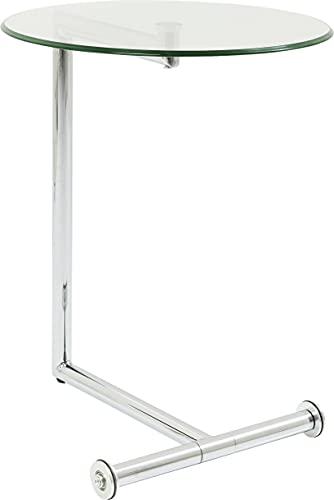 Kare Design Mesita Easy Living, Plata, Acero, Nácar, 62x51x46cm