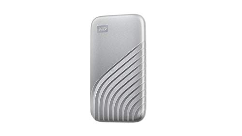 WD 1TB My Passport SSD External Portable Solid State Drive, Silver, Up to 1,050 MB/s, USB 3.2 Gen-2 and USB-C Compatible (USB-A for Older Systems) - WDBAGF0010BSL-WESN