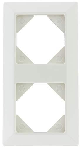 REV Ritter 0236820104 REV Quadro 2-Fach Rahmen weiß Oberputzinstallation