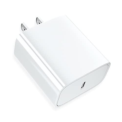 Jecoo Cargador USB C Portátil Cargador Tipo C 20W Carga Rápida Compatible para iPhone 12 11 Pro MAX X XS XR 8 9 Plus iPad Pro