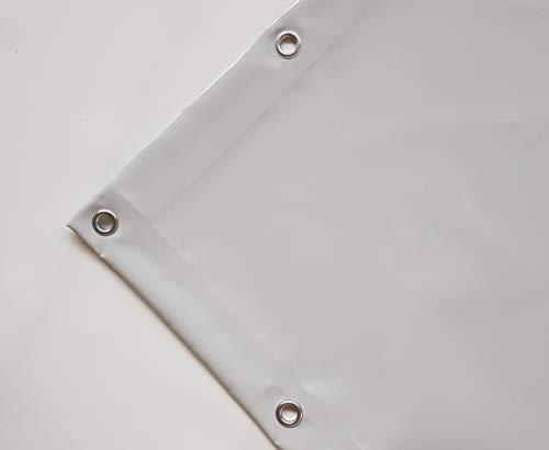 TUTTOPERGOLE Tetto di Ricambio in PVC da 650 gr/m2 per Gazebo/Pergola in Ferro (3 x 2,5 m, Grigio)