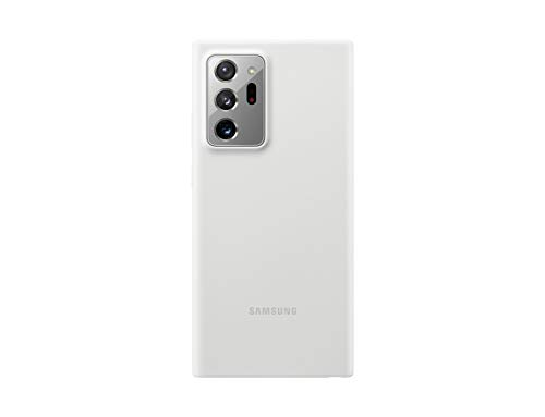 Samsung Silicone Smartphone Cover EF-PN985 für Galaxy Note20 Ultra 5G Handy-Hülle, Silikon, Schutz Hülle, stoßfest, dünn & griffig, weiß