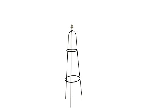 Garden Obelisk – Made of Raw Steel, designed to rust – Available in 1.3m or 1.6m tall – Solid 1 Piece Structure - Made in the UK (Single, 1.3)