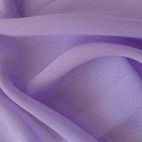 Hi Multi Chiffon Fabric - Lavender - 60' Chiffon Great Quality Fabric Sold by The Yard in Different Colors