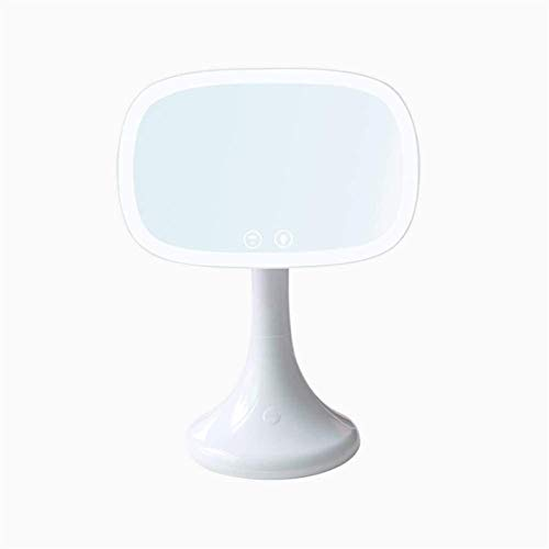 Espejo Maquillaje Mirmón de Maquillaje USB 10x Lámpara de Aumento de la lámpara táctil Dos Modo de alimentación Escritorio de Maquillaje LED mwsoz