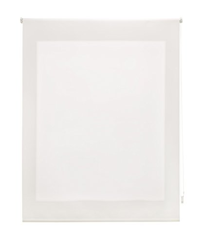Uniestor Estor Enrollable Liso Traslúcido Tela Crudo 120x250 cm