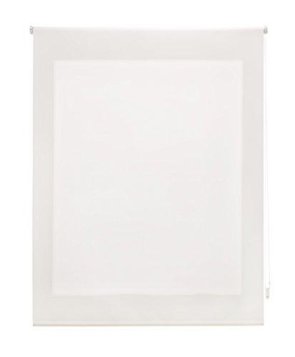 Uniestor Estor Enrollable Liso Traslúcido Tela Crudo 100x175 cm