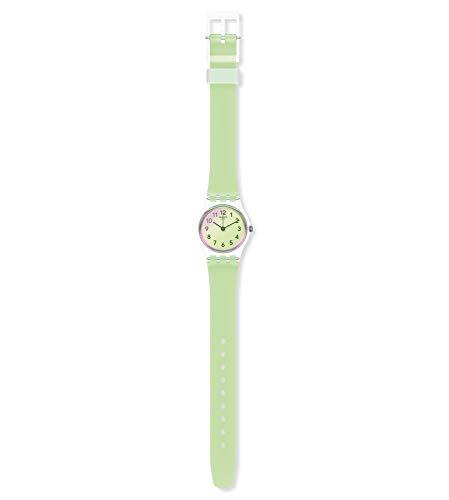 Swatch Reloj Analógico para Mujer de Cuarzo con Correa en Silicona LK397