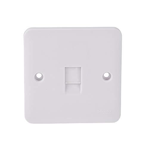 Schneider Electric GGBL7051 Lisse Daten- / Telefonsteckdose, quadratisch, RJ11, matt, Weiß, 10 Stück