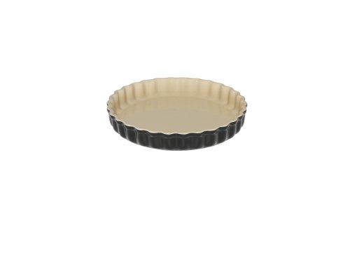Le Creuset 91015924140100 Moule à Tarte Céramique Noir Ebène 1,35 L 24 cm