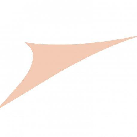 Easywind - Voile d'ombrage 400x400x570cm - Toureillo - Forme Triangulaire, Coloris Taupe, Tissu Extensible