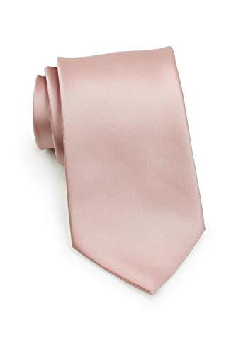 Puccini schmale Krawatte│6cm skinny slim Tie / Hochzeitskrawatte / Plastron / Schlips │ uni / einfarbig: Blau, Rosa, Rot, Schwarz, Grün, Türkis, Orange, u.v.w. (Rose)