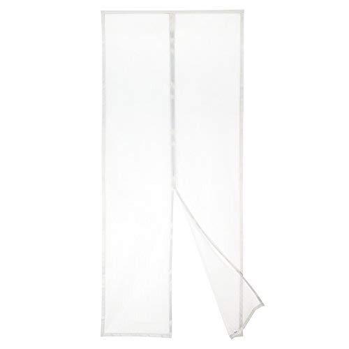 Apalus Magnet Fliegengitter Tür Insektenschutz 90x200cm, Der Magnetvorhang ist Ideal für die Balkontür, Kellertür und Terrassentür, Kinderleichte Klebemontage Ohne Bohren, Nicht Kürzbar, Weiß