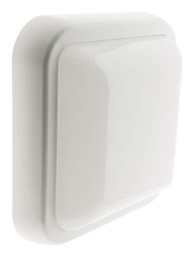 Hublot carré LED 15W 1050 lm IP44 Blanc