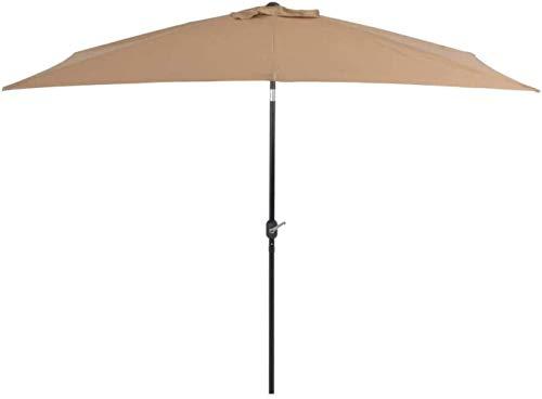 Paraguas al Aire Libre al Aire Libre Protege al Aire Libre Parasol con Poste de Metal 300 * 200cm Topo Sombrilla for el Patio de Sombra ZDWN