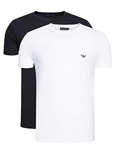 Emporio Armani Underwear 2-Pack T-Shirt Endurance, Bianco, XL Uomo